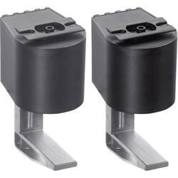 Montážní úchytka Schulte Elektrotechnik, 99090205, 8-40 mm, sada 2 kusů, černá