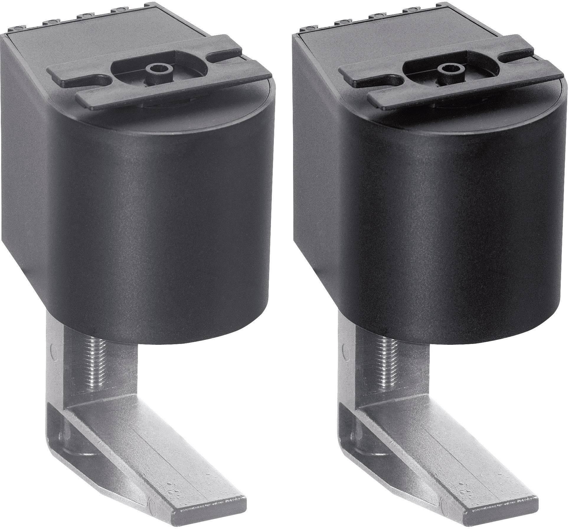 Montážní úchytka Schulte Elektrotechnik, 99090210, 40-75 mm, sada 2 kusů, černá