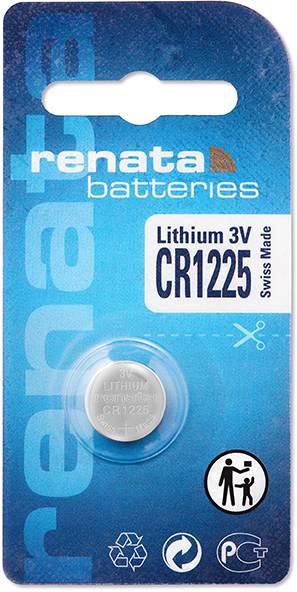 Gombíková batéria CR 1225 lítium Renata, 48 mAh, 3 V