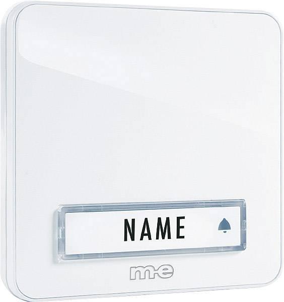 Zvonková deska M-e KTA-1 W, 1 tlačítko, max. 12 V/1 A,bílá