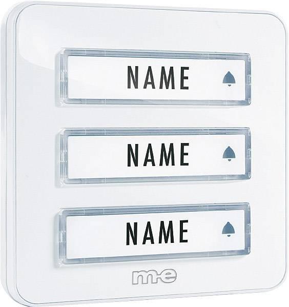 Zvonková deska M-e KTA-3 W, 3 tlačítka, max. 12 V/1 A,bílá