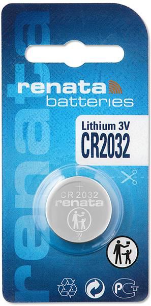 Gombíková batéria CR 2032 lítium Renata, 225 mAh, 3 V