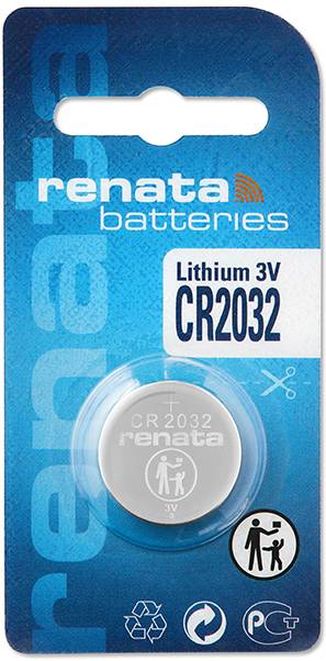 Knoflíková baterie Renata CR 2032, lithium, CR2032.CU MFR