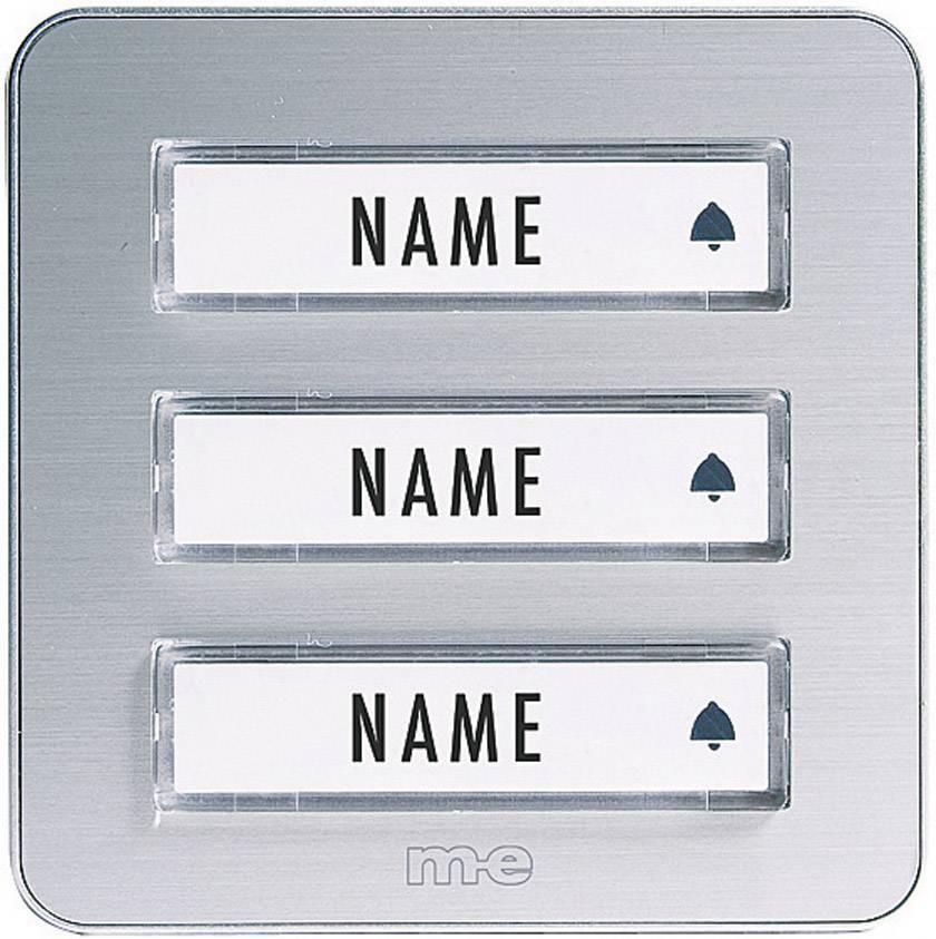 Zvonková deska M-e KTA-3 A/S, 3 tlačítka, max. 12 V/1 A, stříbrná