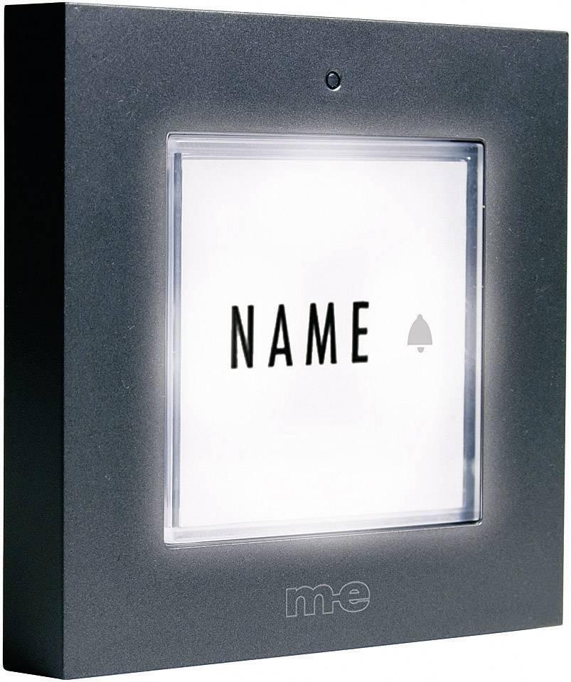 Zvonkové tlačítko podsvícené M-e KTB-1 A, max. 12 V/1 A , antracit