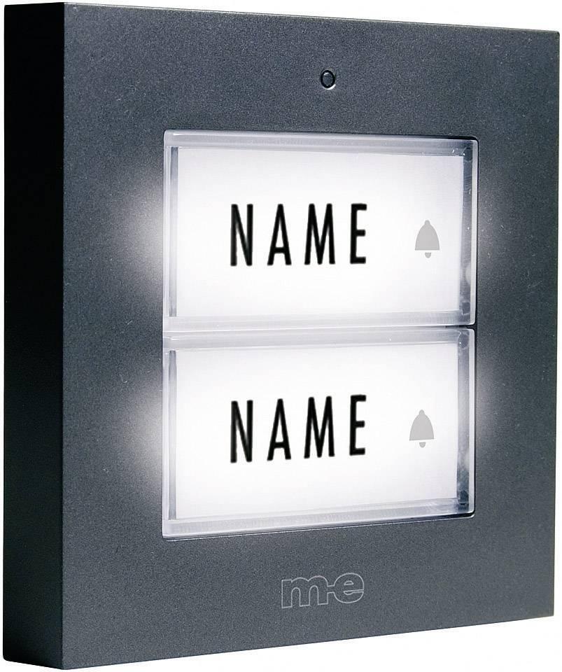 Zvonkové tlačítko M-e KTB-2 A, 2 podsvícená tlačítka, max. 12 V/1 A, antracit