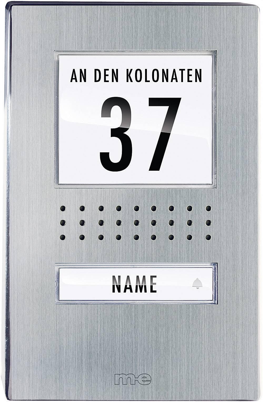 Káblový dverový telefón m-e modern-electronics ADV 110.1 EG ADV 110.1 EG, nerezová oceľ