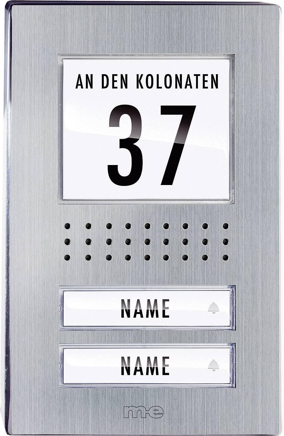 Káblový dverový telefón m-e modern-electronics ADV-120.1 EG ADV-120.1 EG, nerezová oceľ