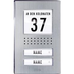 Venkovní jednotka pro domácí telefon m-e ADV-120.1, 2 rodiny, nerez
