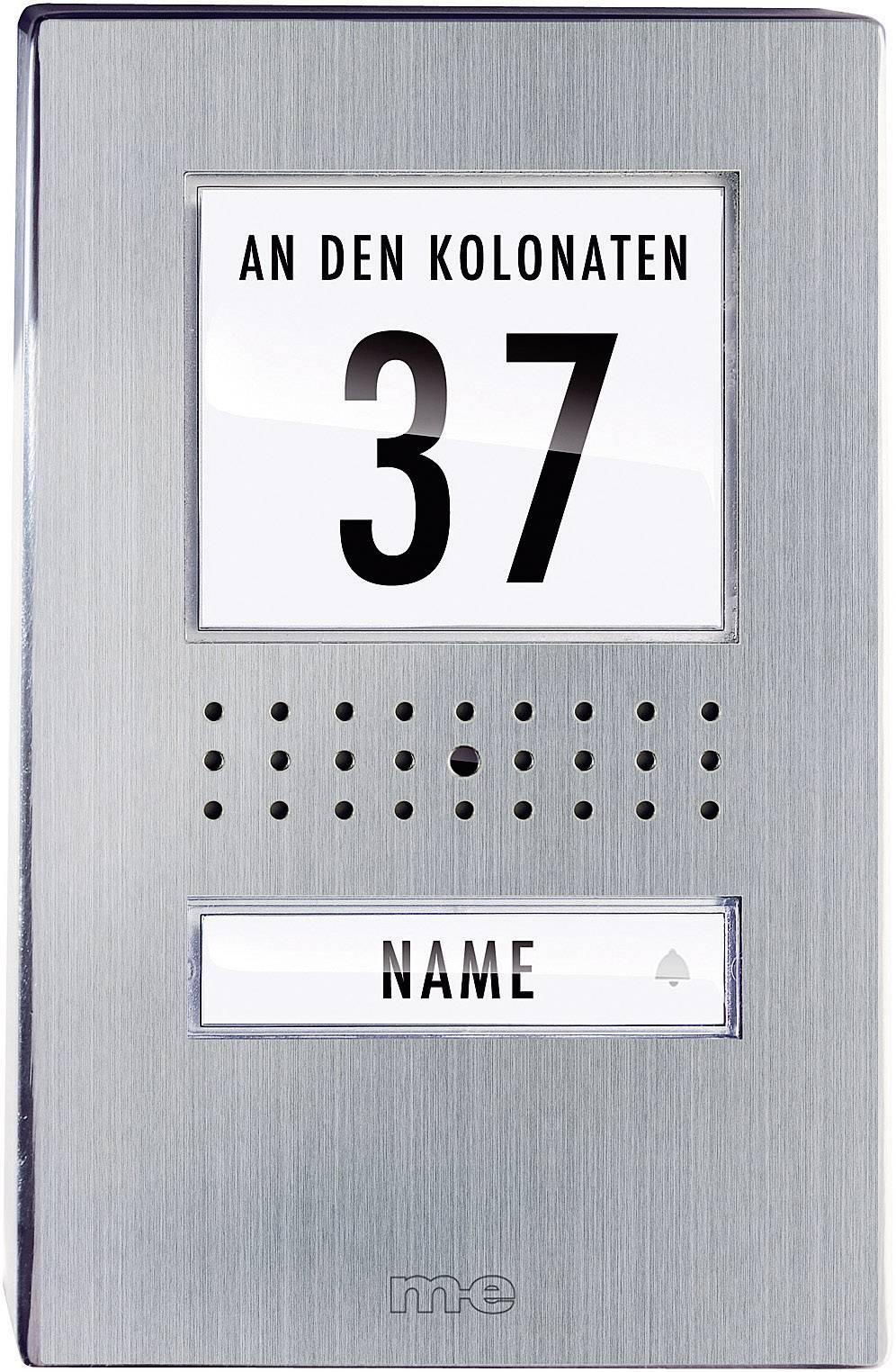 Venkovní jednotka pro domácí videotelefon m-e VDV-510.1, 1 rodina, nerez