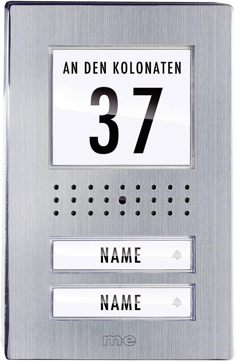 Káblový video dverový telefón m-e modern-electronics VDV 520.1 EG VDV 520.1 EG, nerezová oceľ