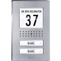 Venkovní jednotka pro domácí videotelefon m-e VDV-520.1, 2 rodiny, nerez