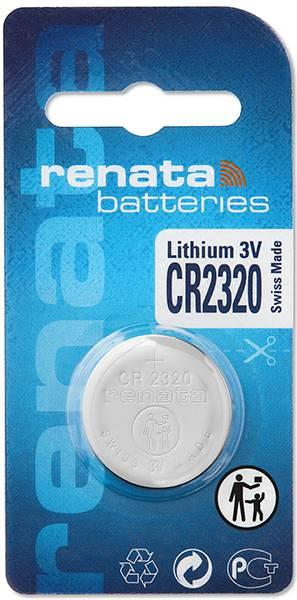 Gombíková batéria CR 2320 lítium Renata, 150 mAh, 3 V
