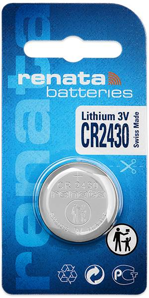 Gombíková batéria CR 2430 lítium Renata, 285 mAh, 3 V