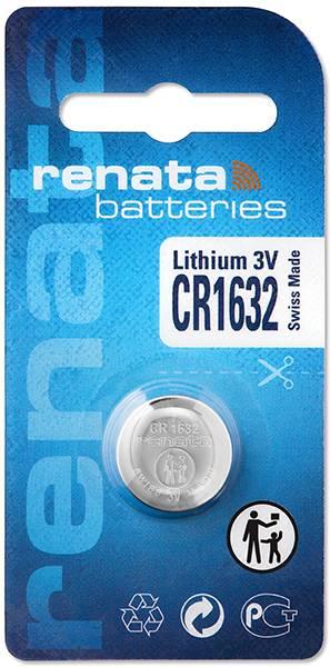 Gombíková batéria CR 1632 lítium Renata, 137 mAh, 3 V