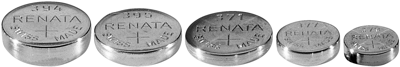 Knoflíková baterie 397, Renata SR59, na bázi oxidu stříbra, 397.CU MF