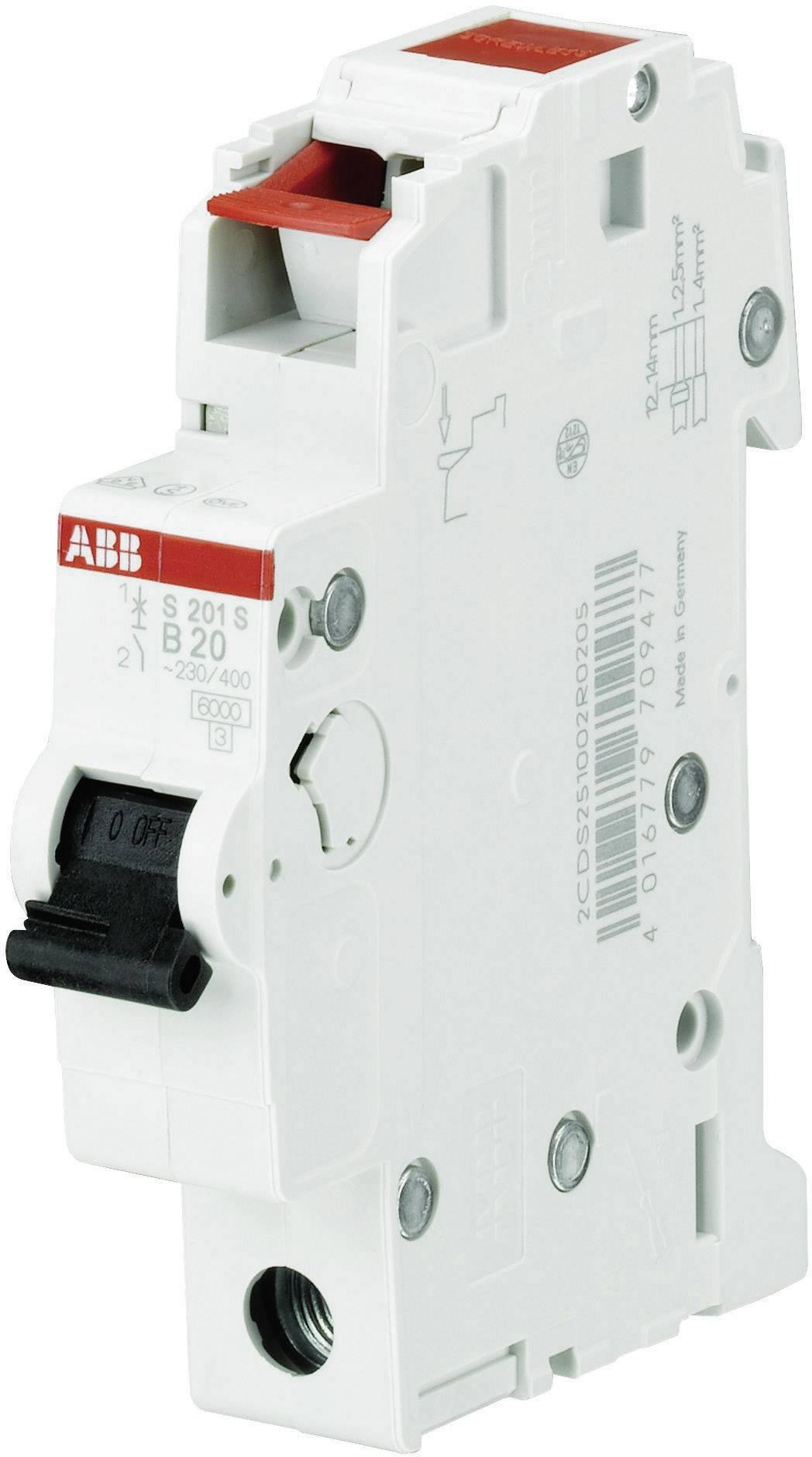 Elektrický istič ABB 2CDS251002R0165, 1-pólový, 16 A