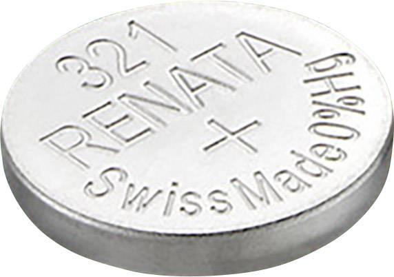 Knoflíková baterie na bázi oxidu stříbra Renata SR65, velikost 321, 14,5 mAh, 1,55 V