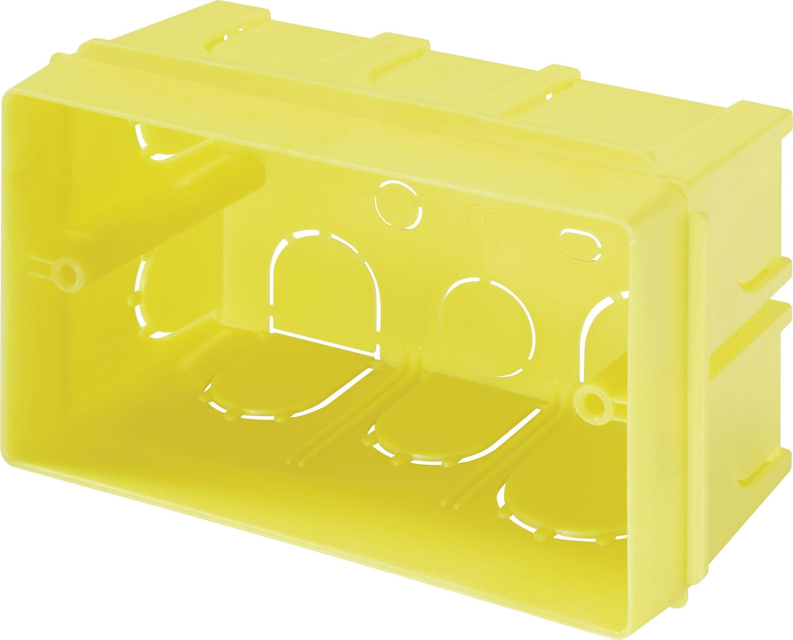 Krabička pod omítku 662 žlutá