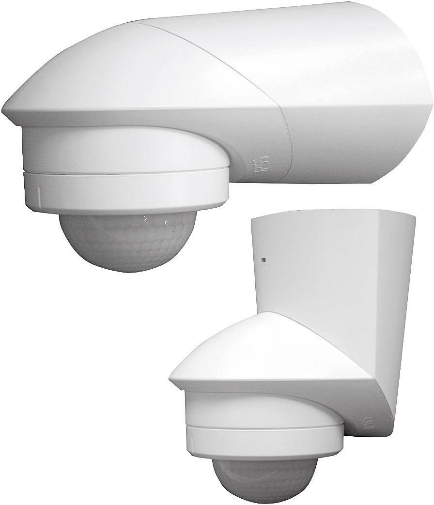 Senzor pohybu PIR Grothe 94531, 240 °, relé, biela, IP55