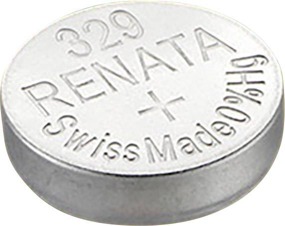 Knoflíková baterie 329, Renata SR731, na bázi oxidu sttříbra, 329.CU MF