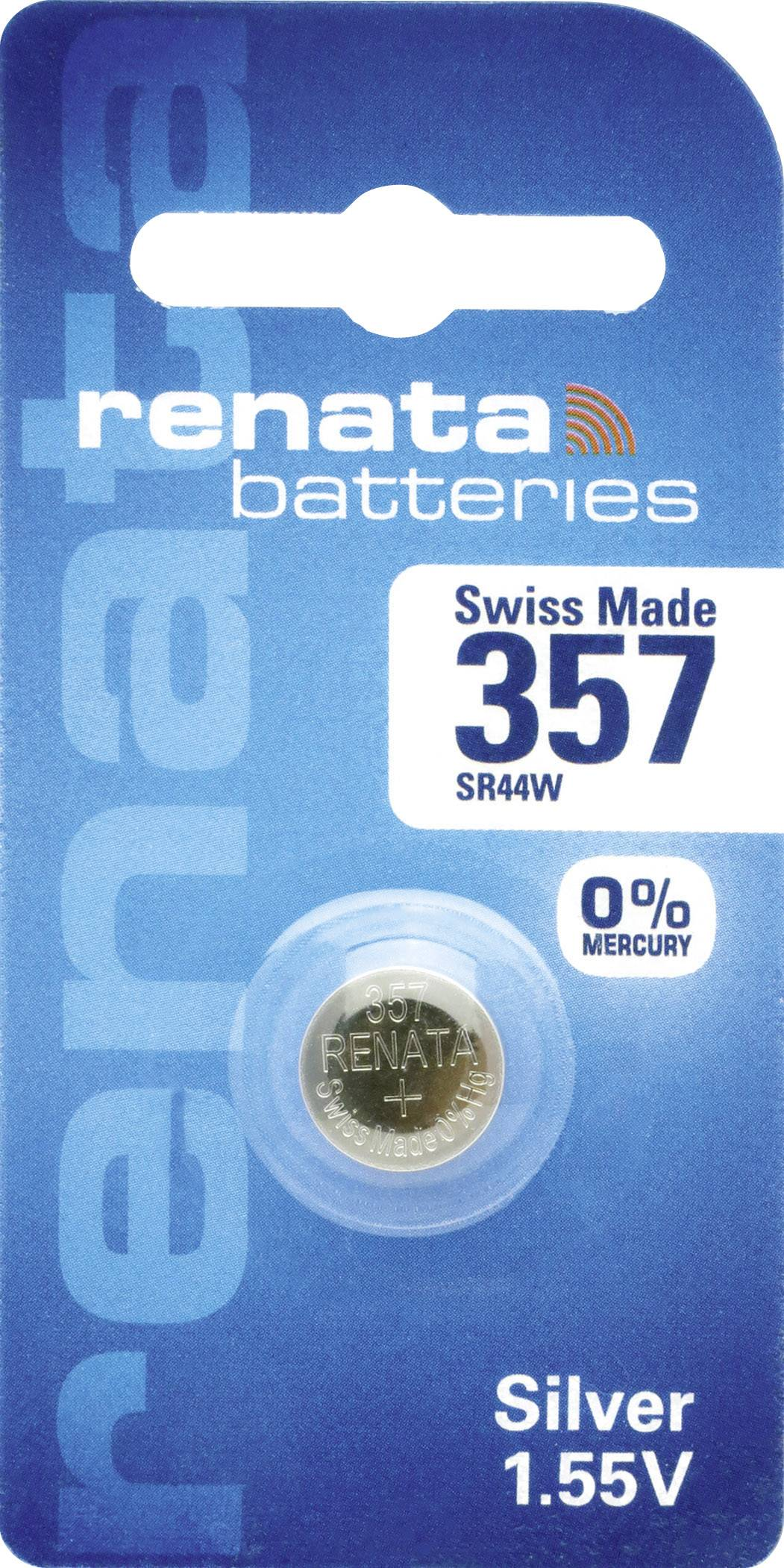 Gombíkové batérie z oxidu strieborného 357