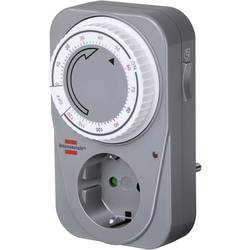 Spínací zásuvka s časovačem Brennenstuhl, 3680 W, IP20, analogová, denní