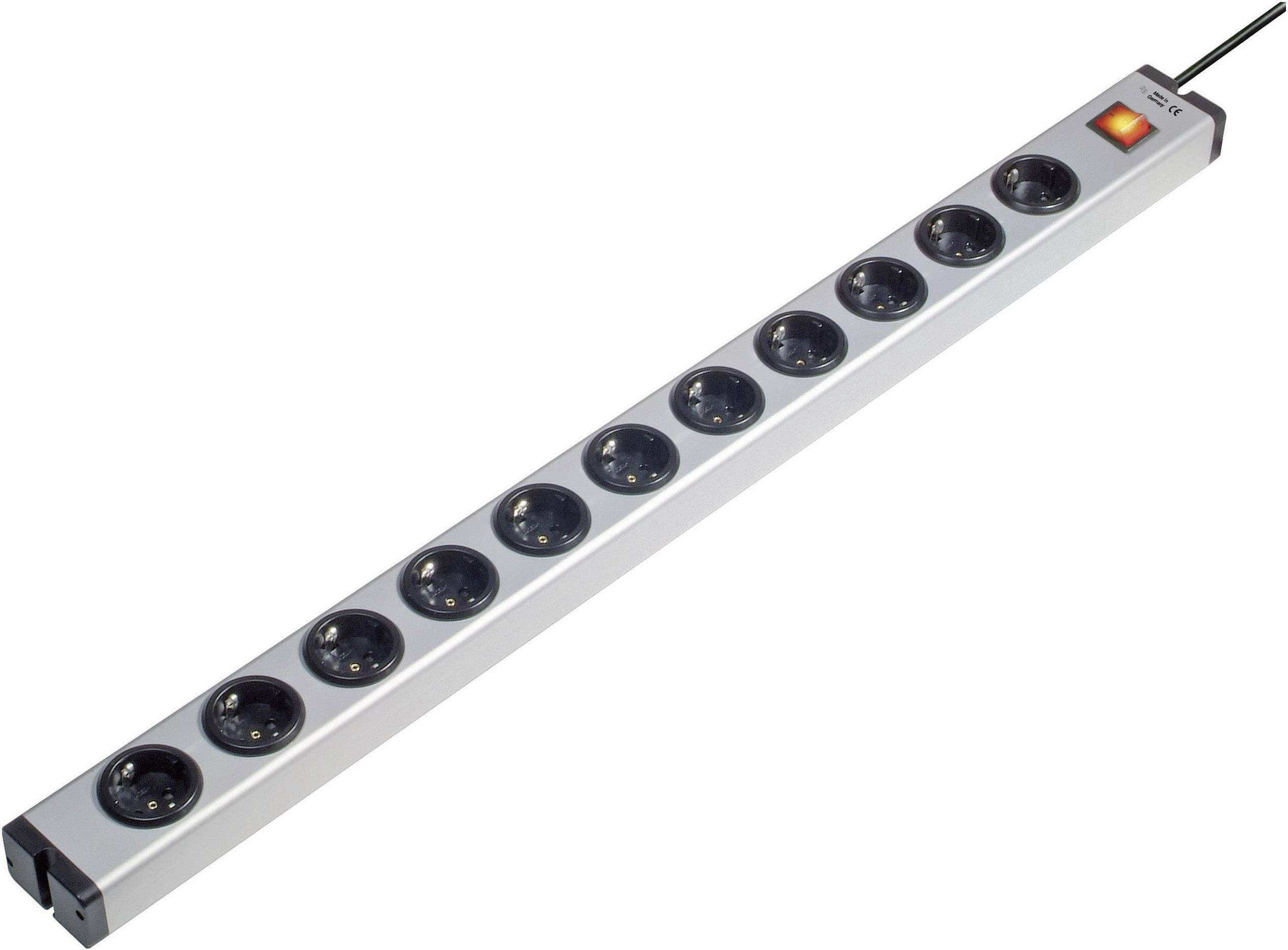 Zásuvková lišta Ehmann so spínačom, 11 zásuviek, dĺžka káblu 1.5 m
