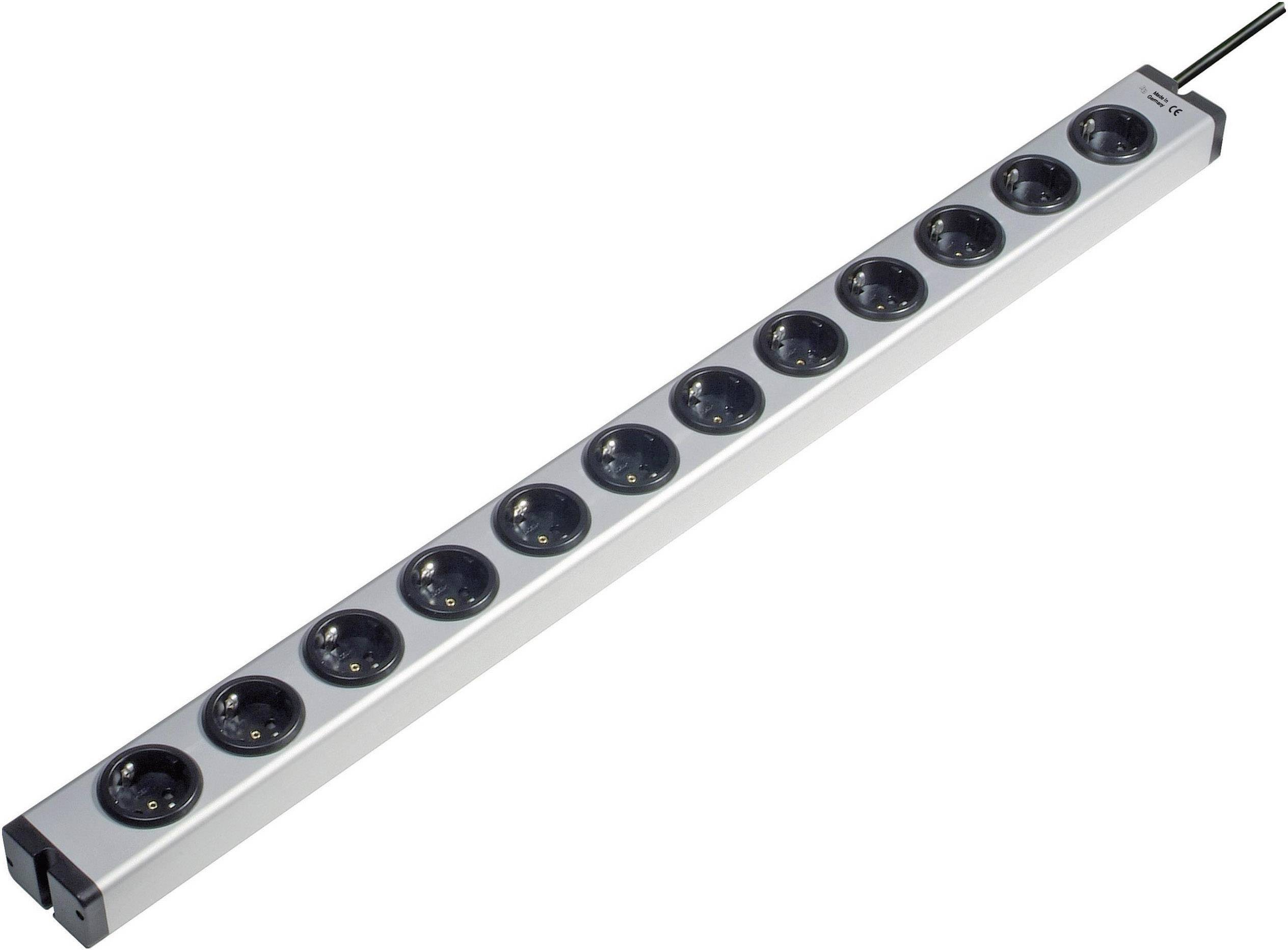 Zásuvková lišta Ehmann, 12 zásuviek, dĺžka káblu 1.5 m