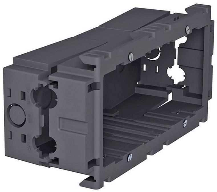 Montážní elektroinstalační krabice OBO Bettermann 6288611, dvojitá, šedá