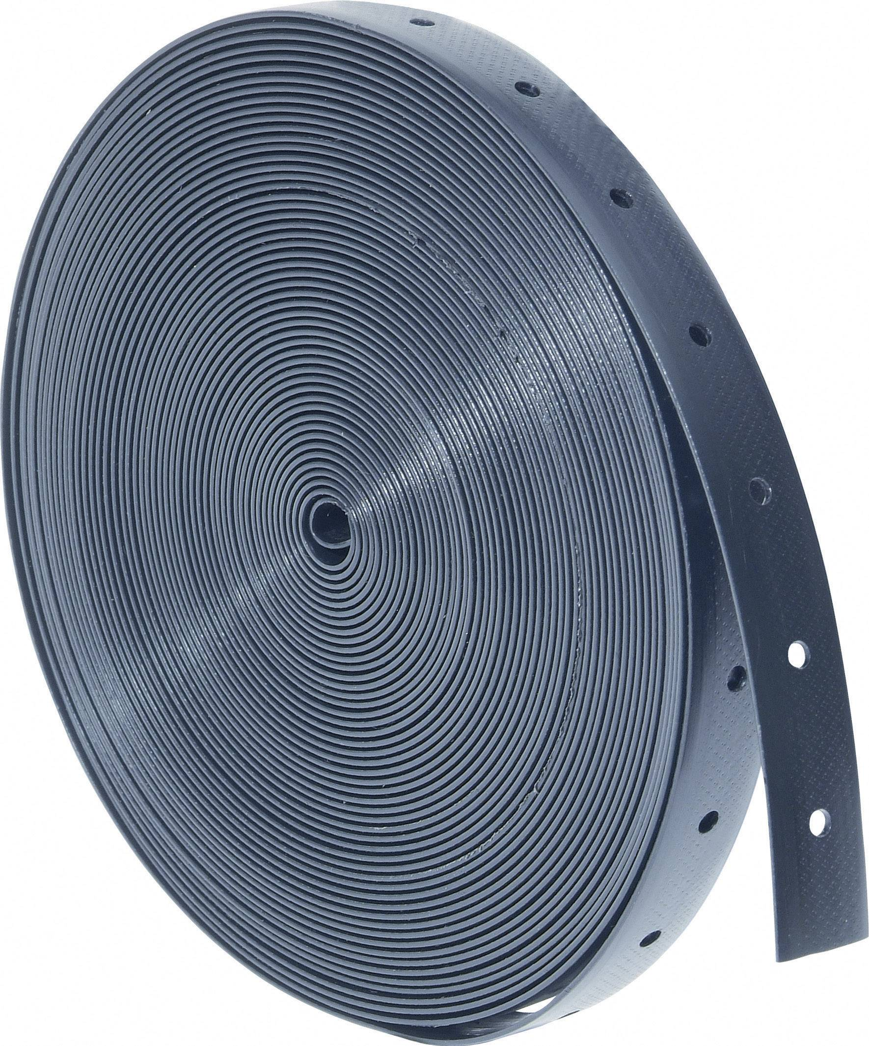 Plastová montážní páska, 13x1,2 mm, 10 m, černá