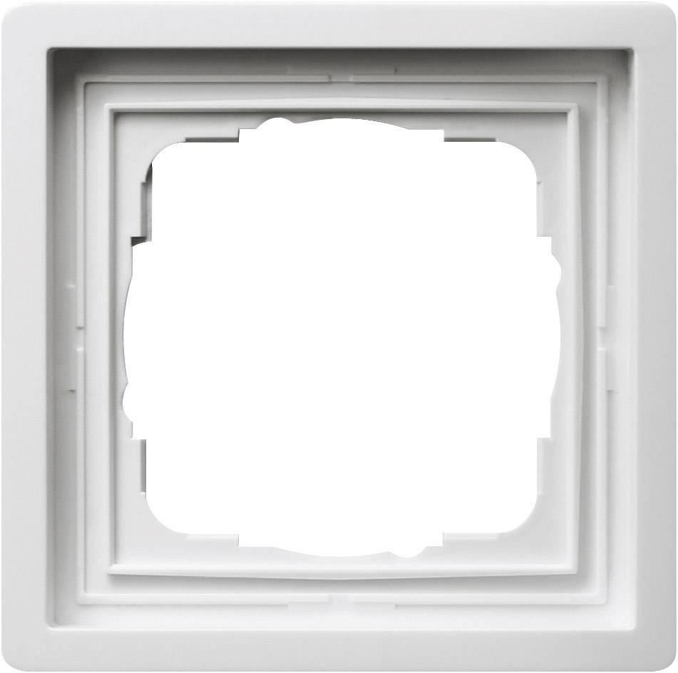 Rámeček plochého spínače 1dílný Gira, standard 55, čistá bílá (0211112)