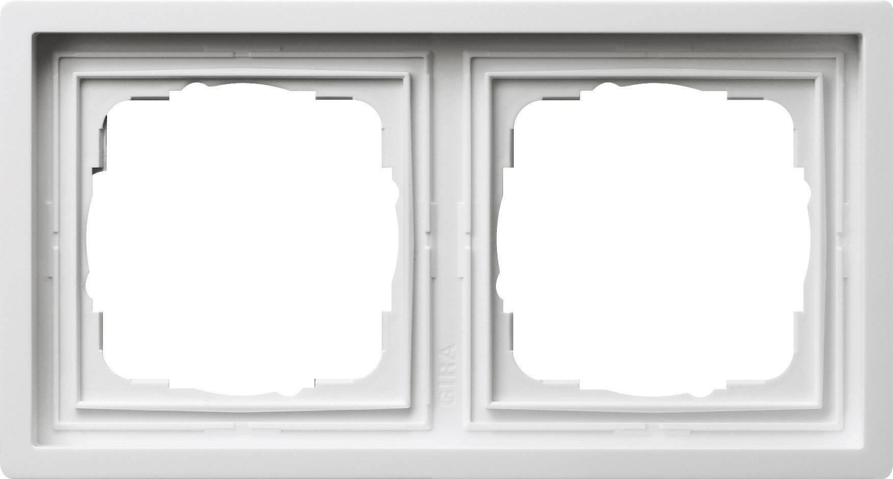 Rámeček plochého spínače 2dílný Gira, standard 55, čistá bílá (0212112)