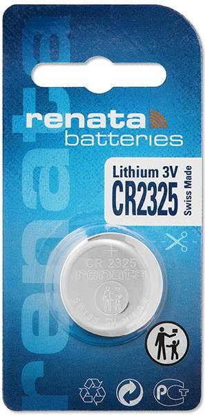 Gombíková batéria CR 2325 lítium Renata, 190 mAh, 3 V
