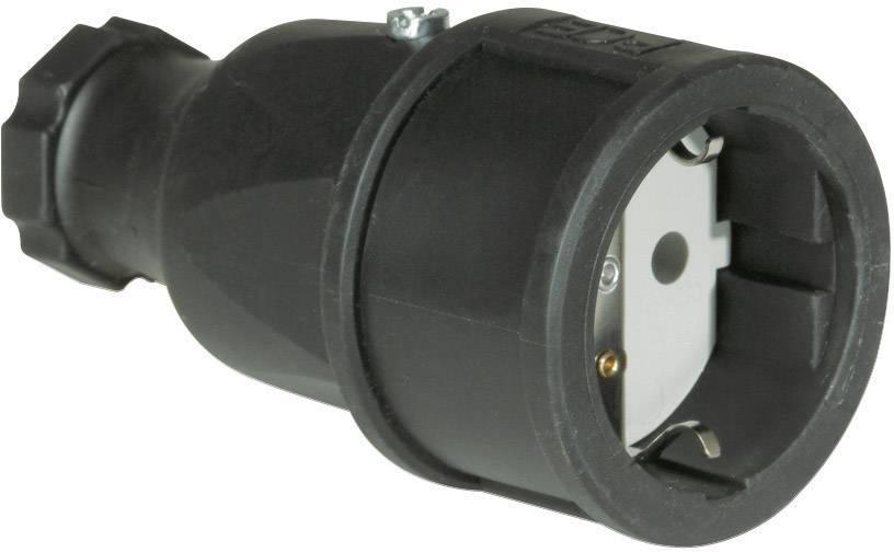 Zásuvka PCE 2510-s, guma, IP20, 230 V, černá