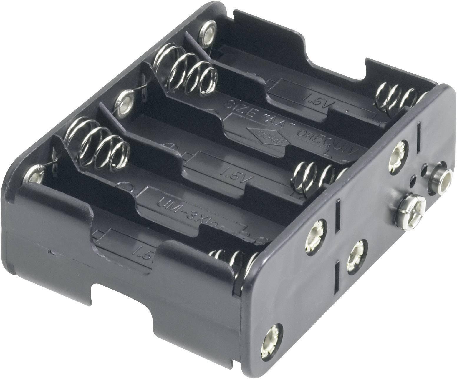 Držák na baterie 10x AA s klipkonektorem Goobay, černá