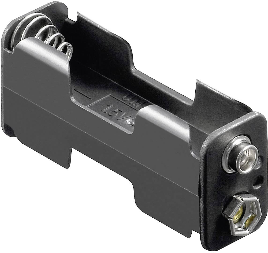 Batériový držák na 2x mignon (AA) Goobay 12461, (d x š x v) 60 x 26 x 16.5 mm
