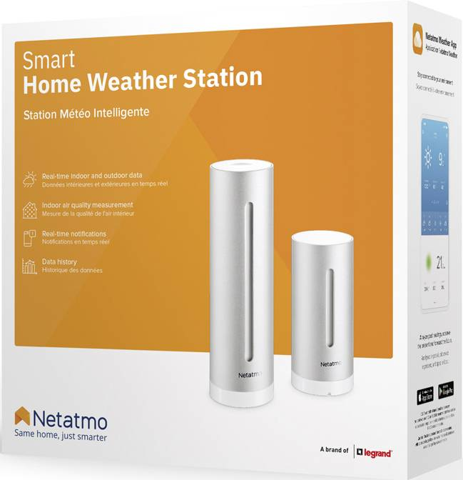 Meteostanice pro smartphone s OS Android a iOS, Netatmo NWS01