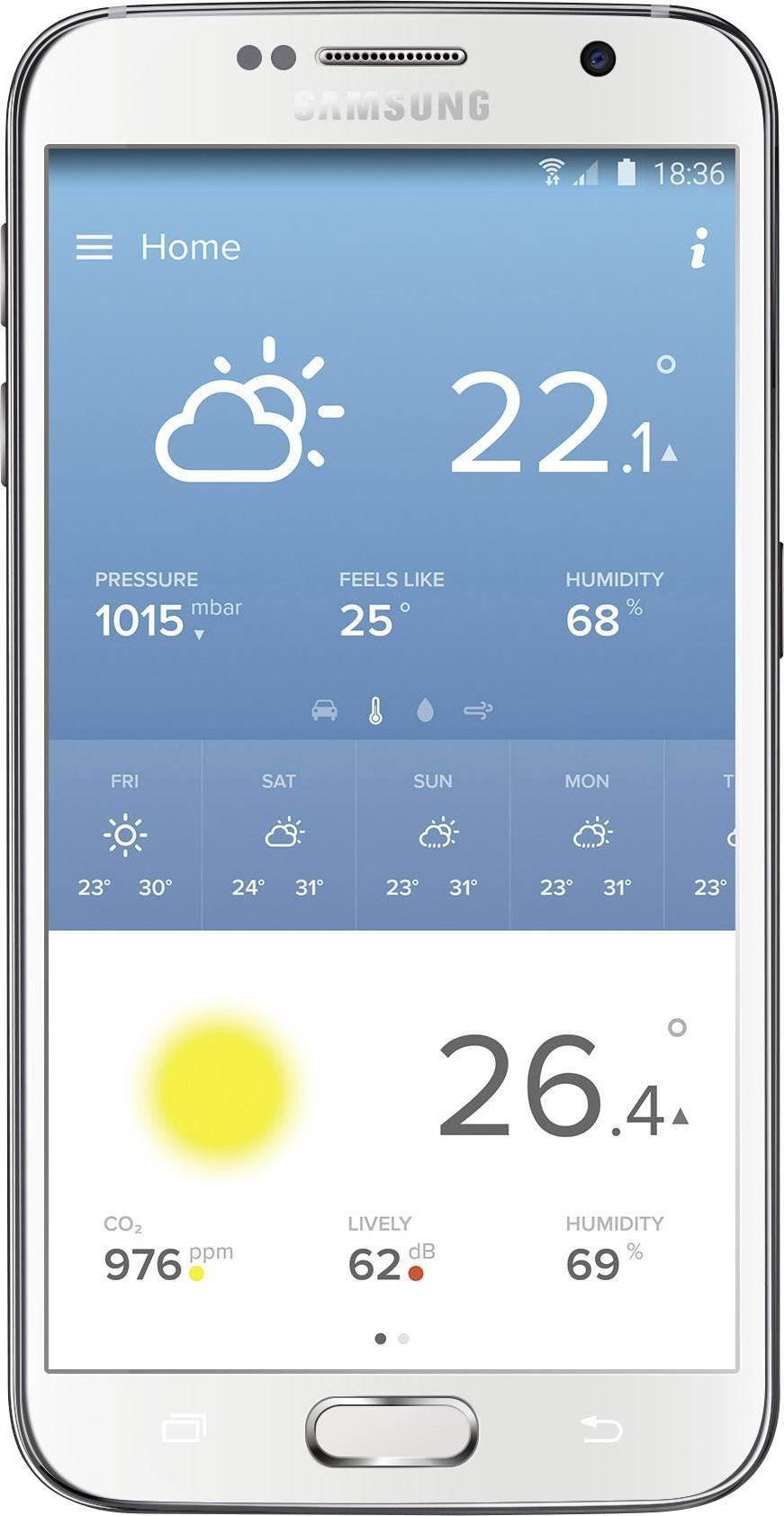 Meteostanica NWS01 pre iOS a Android + prídavný senzor NE1002ZZ + vnútorné senzor