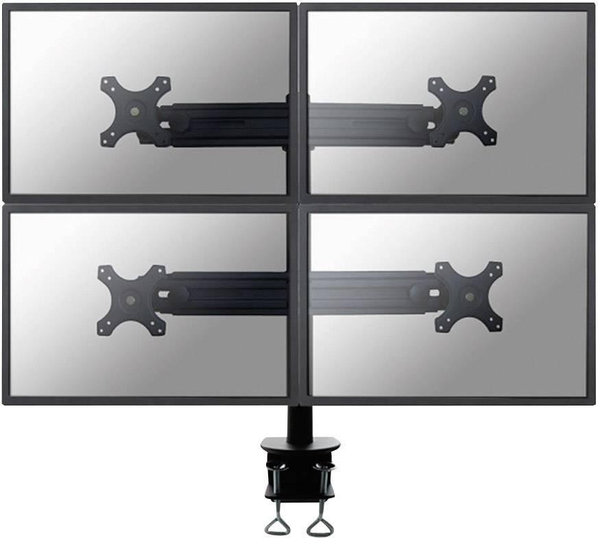 """Stolní držák na 4 monitory, 48 - 69 cm (19"""" - 27"""") NewStar FPMA-D700D4, černý"""