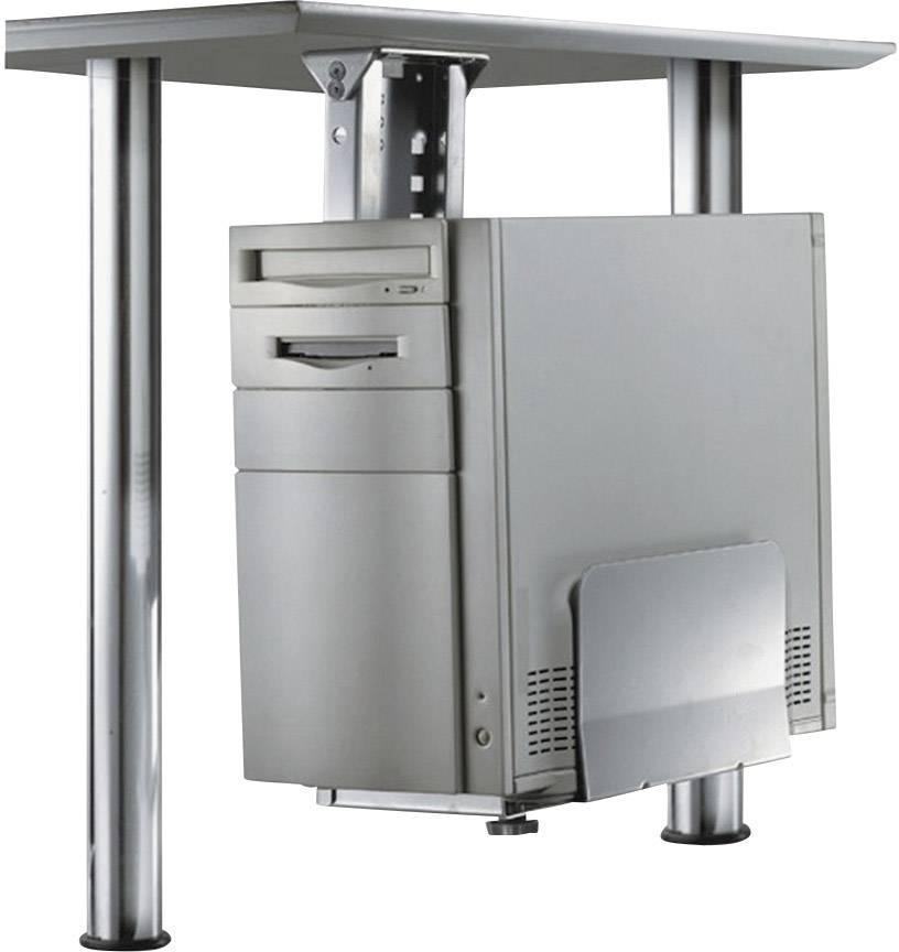 Držák na PC, CPU-D200SILVER, nosnost 30 kg, stříbrný,NewStar