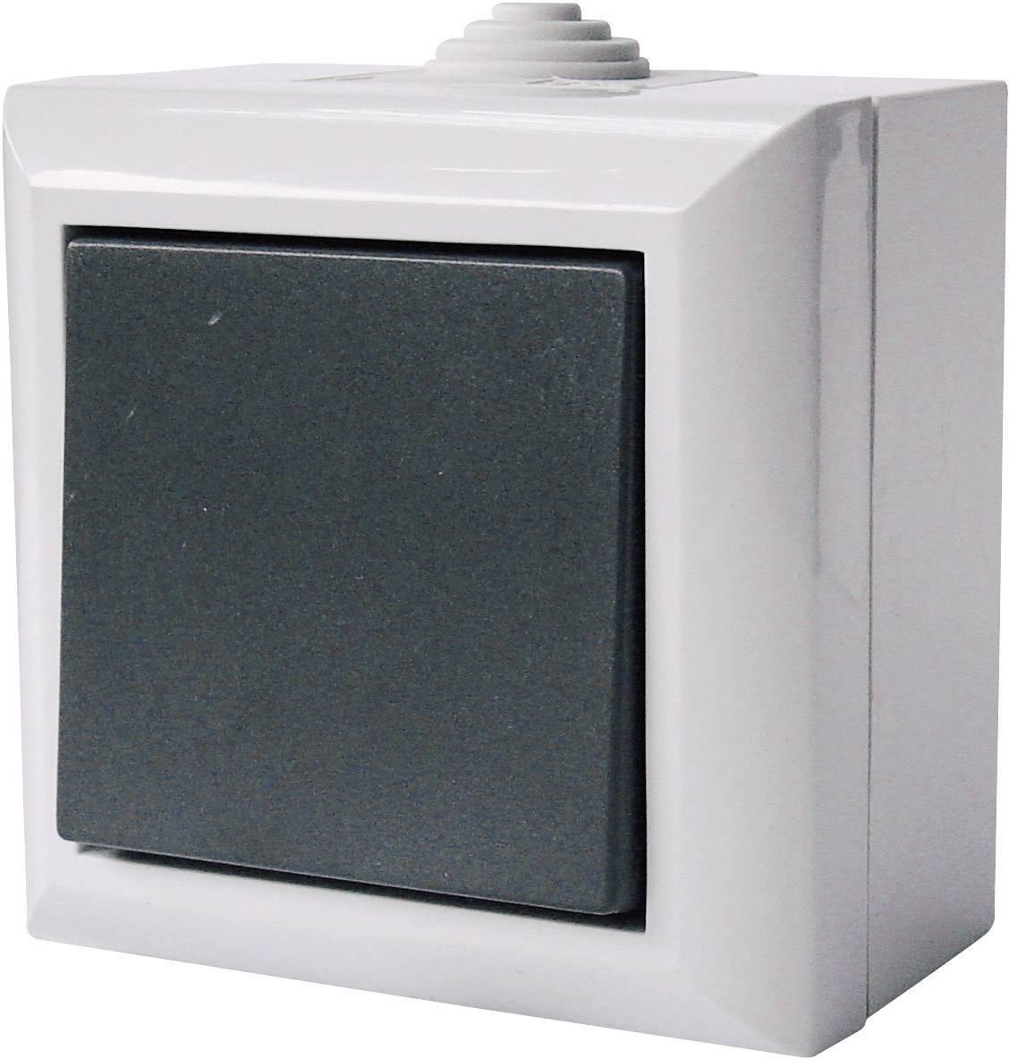 Vypínač GAO Business-Line AP, 9160, šedá