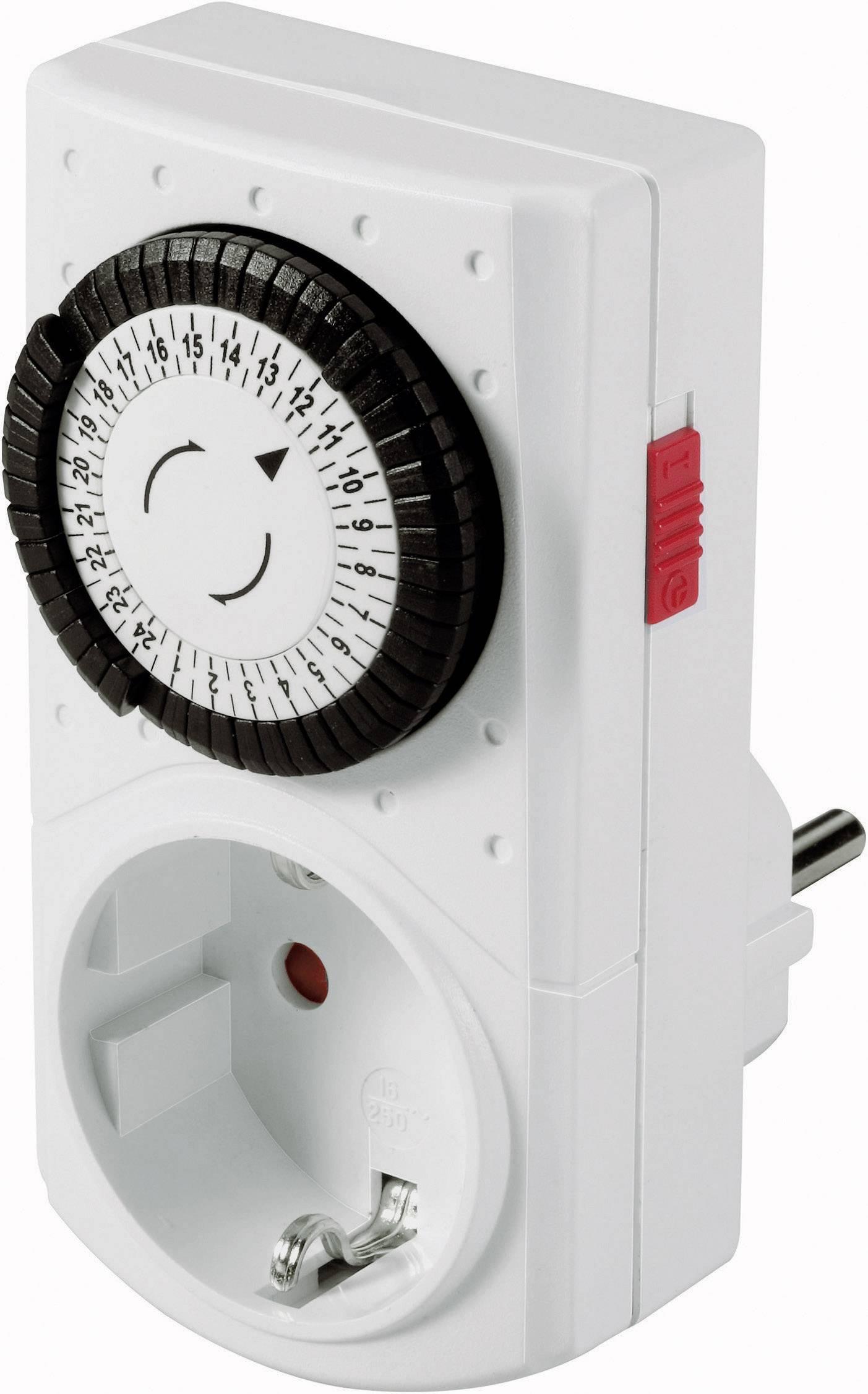 Mini spínací zásuvka s časovačem GAO, 0760, 3680 W, IP20, analogová, denní