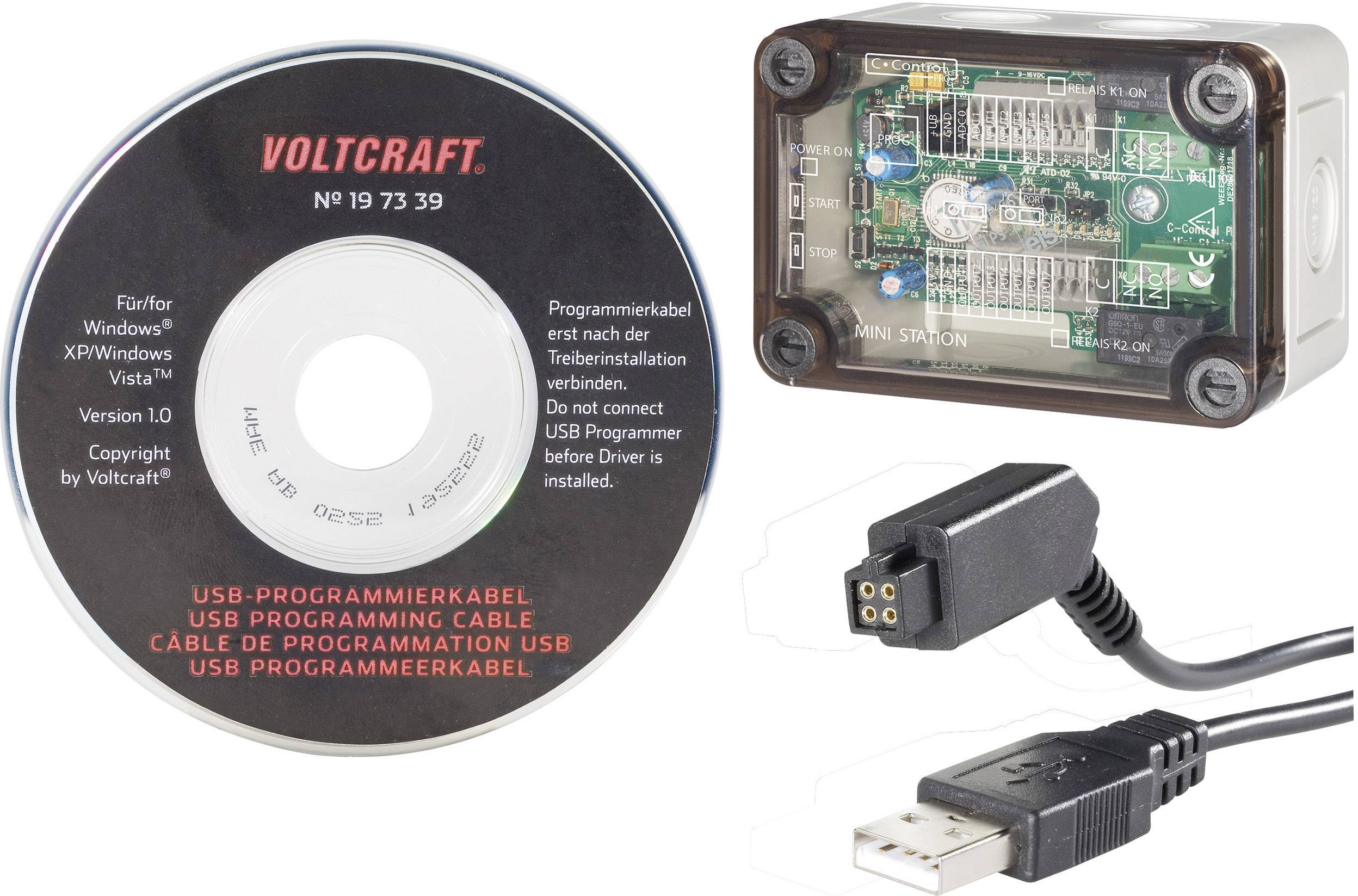 C-Control PRO Mini Station + VOLTCRAFT® USB-Programmierkabel 616686