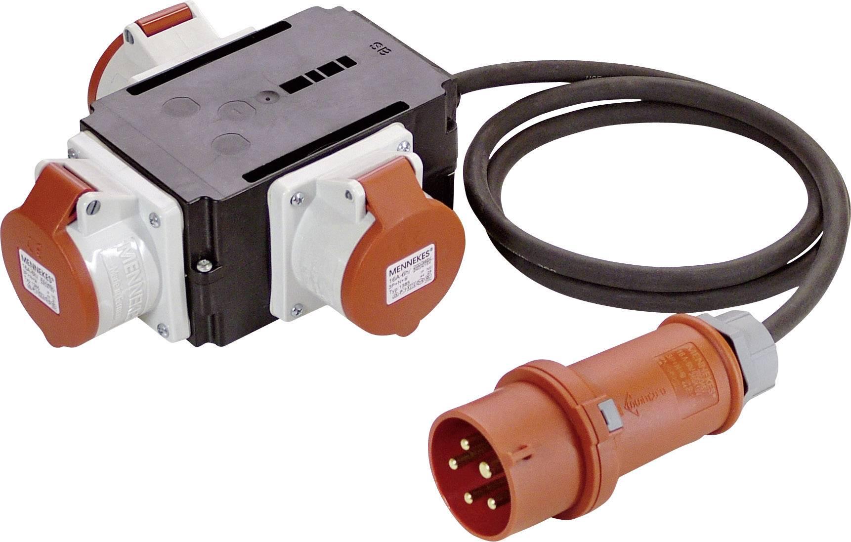 CEE rozbočovací zásuvka as - Schwabe 60526, 16 A, 400 V, 1.5 m