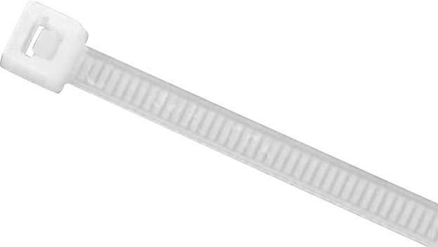Sťahovacie pásky HellermannTyton UB250C-N-PA66-NA-C1 905-72001, 245 mm, PA66, prírodná, 100 ks