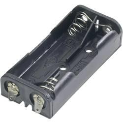 Držák na baterie 2x AAA s pájecími kontakty Goobay, černá