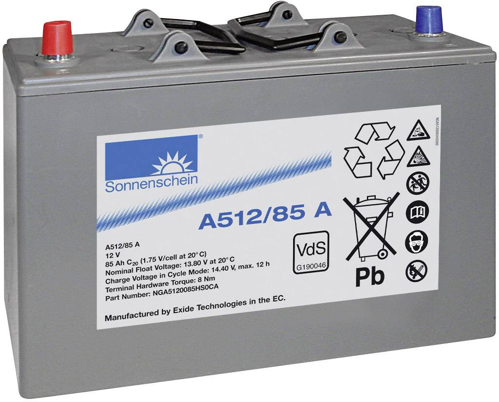 Olovený akumulátor GNB Sonnenschein A512/85 A NGA5120085HS0CA, 85 Ah, 12 V