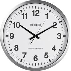 Analogové DCF nástěnné hodiny Eurochron EFWU, Ø 50 cm x 63 mm, stříbrná