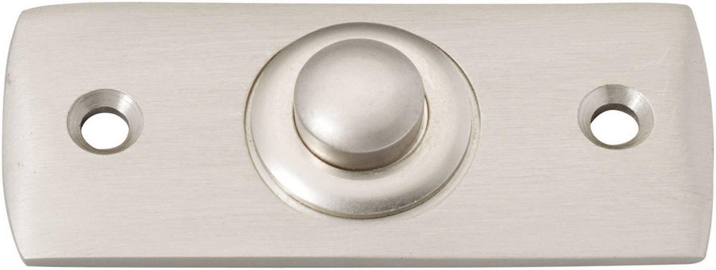 Zvončekové tlačidlo Heidemann 70409 Aries, max. 24 V/1 A, poniklovaná mosadz